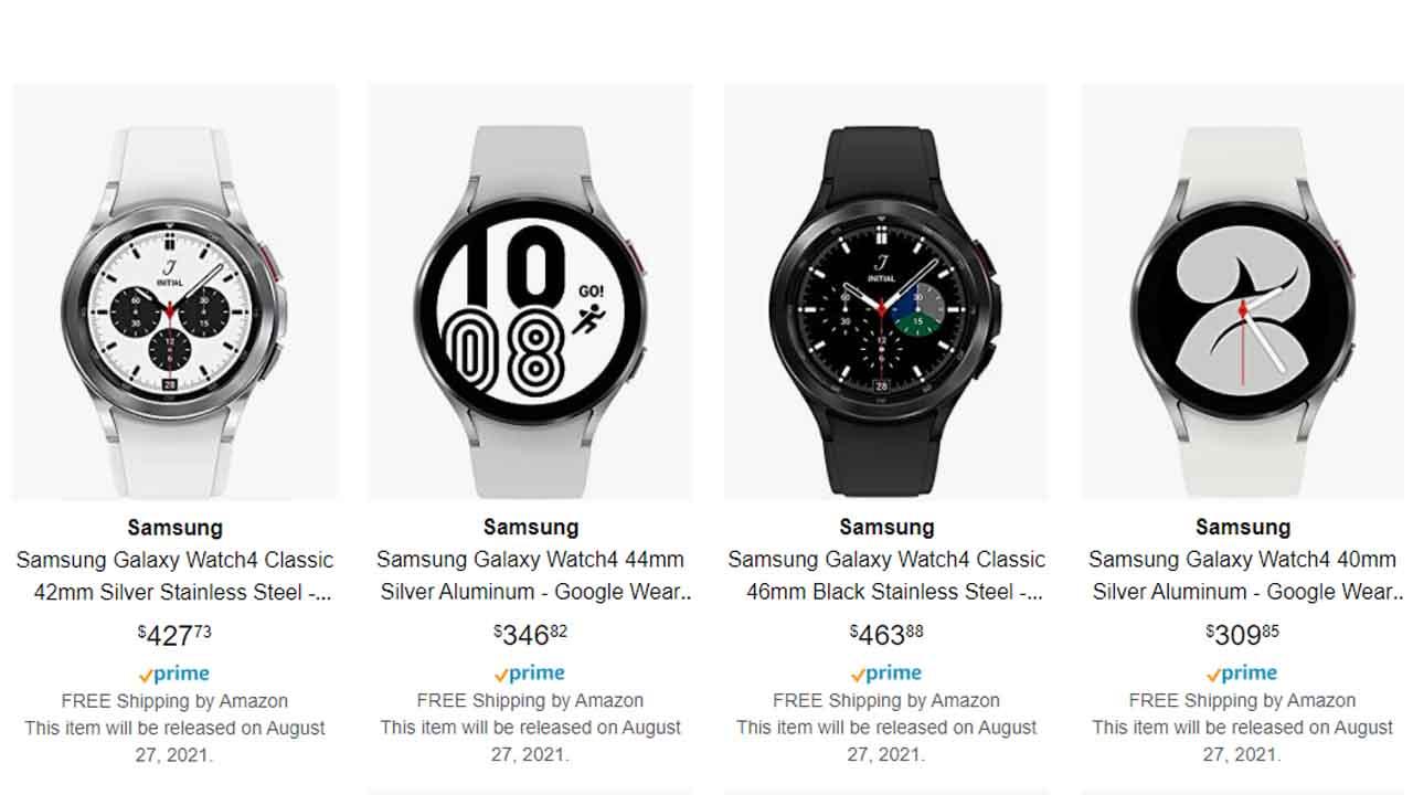 Amazon Yaptı Yapacağını: Samsung Galaxy Watch 4'ün Fiyatı, Görselleri ve Çıkış Tarihi Ortaya Çıktı