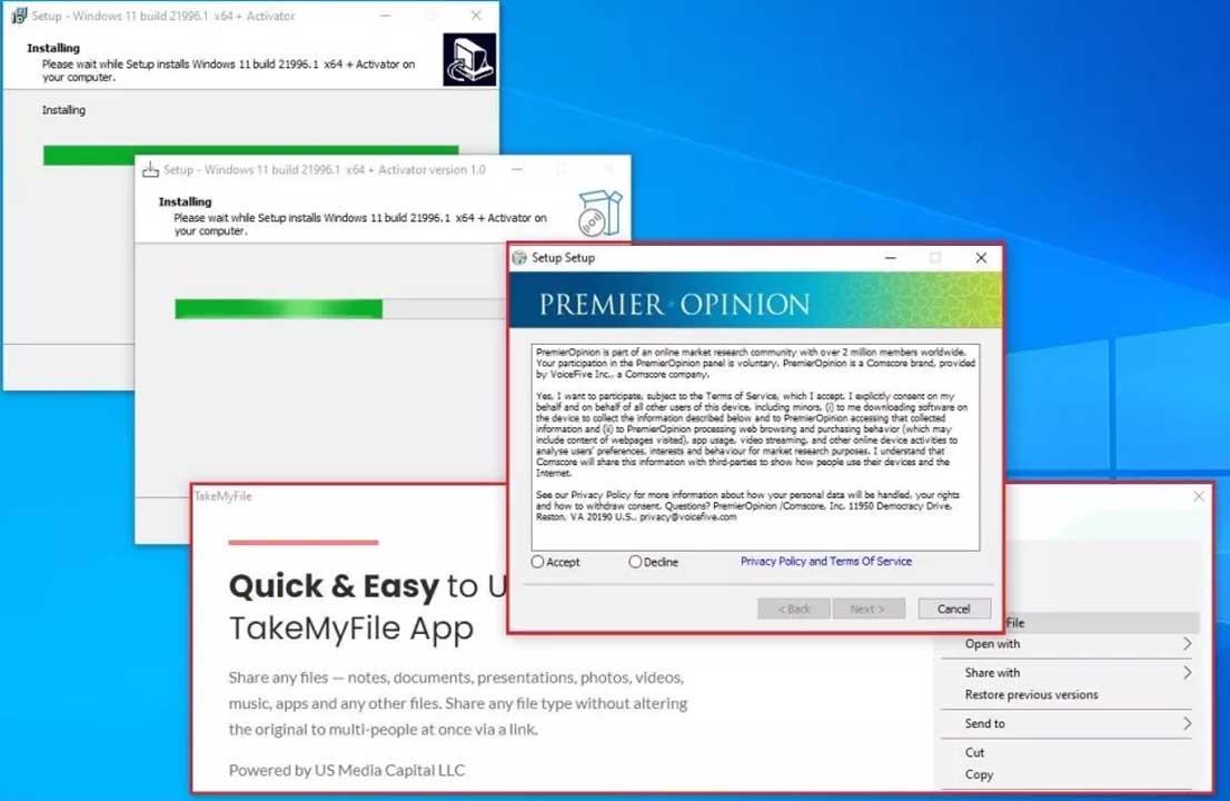 Merakınıza Yenik Düşmeyin: İnternette Windows 11'i Taklit Eden Zararlı Uygulamalar Türedi