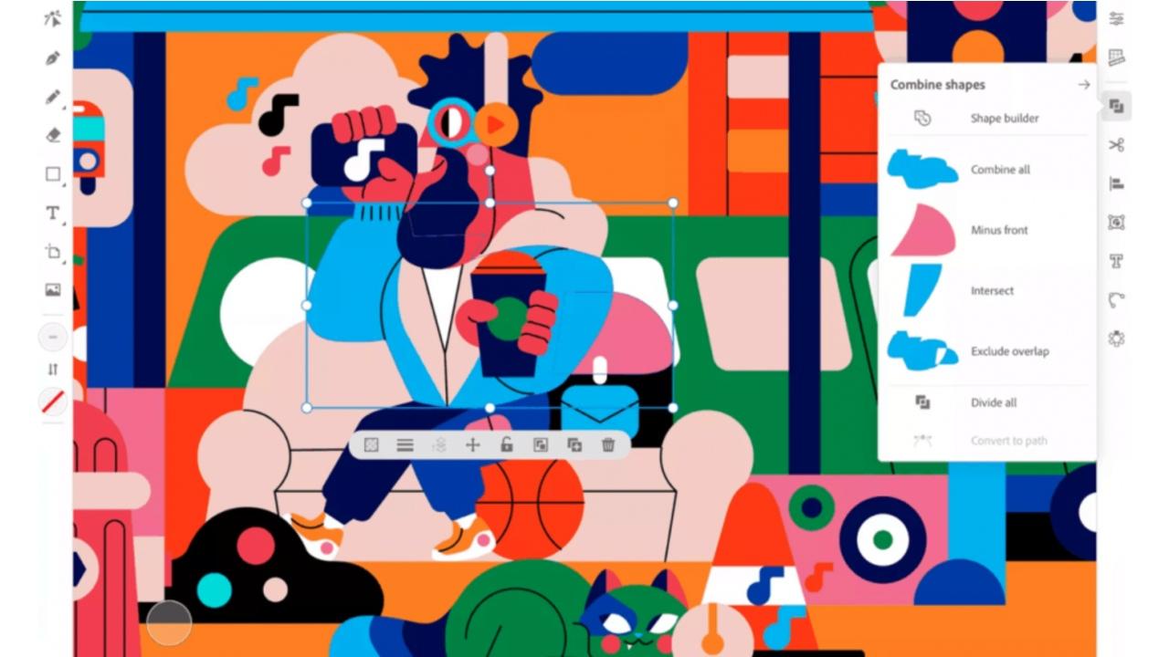 Adobe Illustrator ile yapılmış renkli bir tasarım