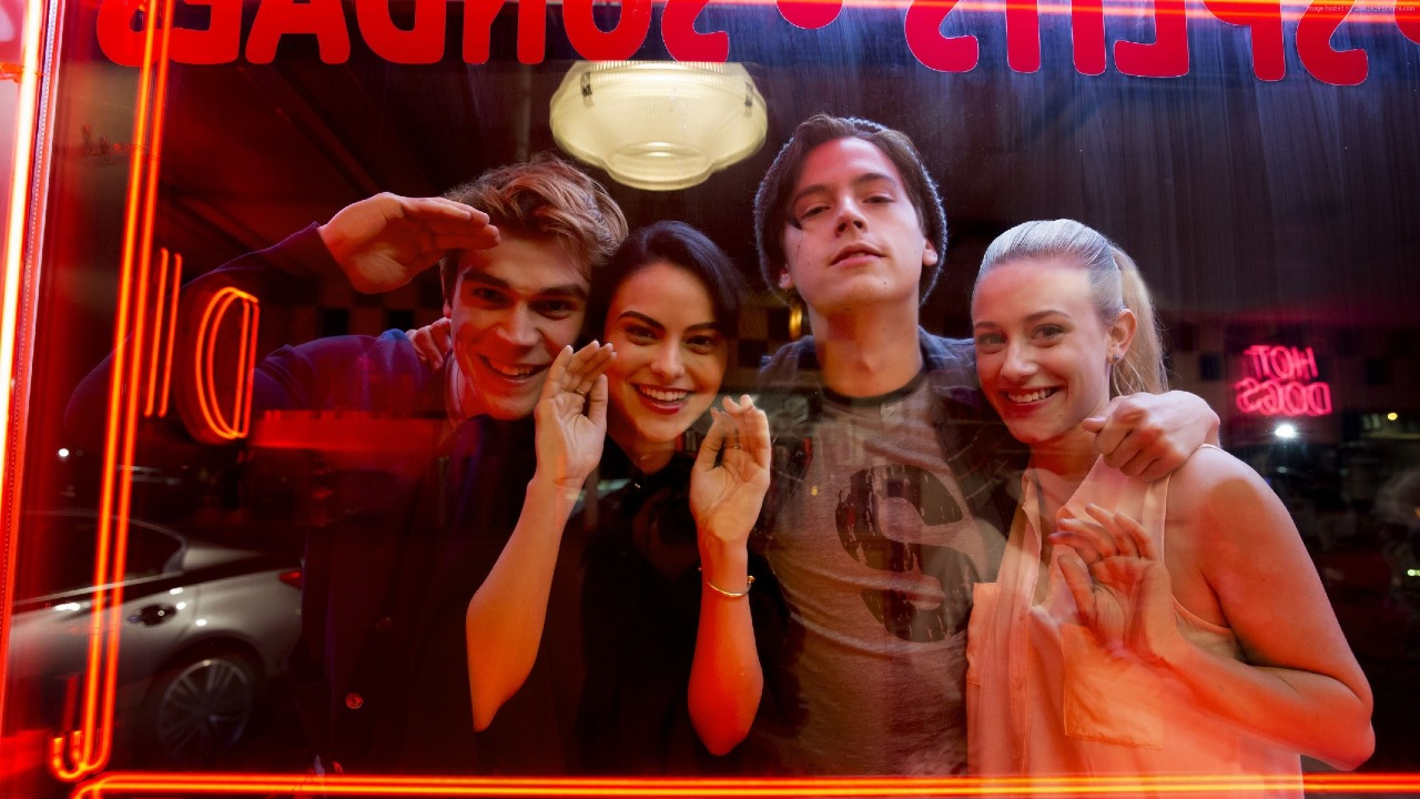 Archie, Veronica, Jughead and Betty respectively