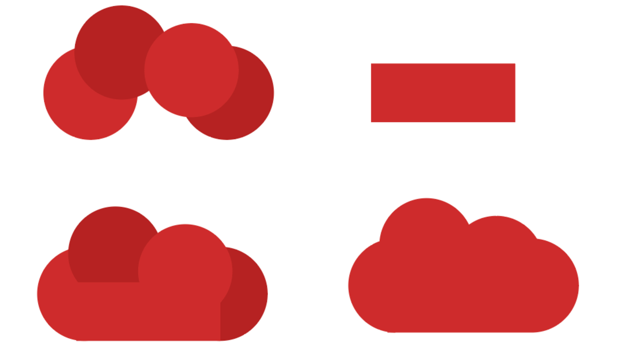 Şekiller kullanılarak yapılmış bir bulut