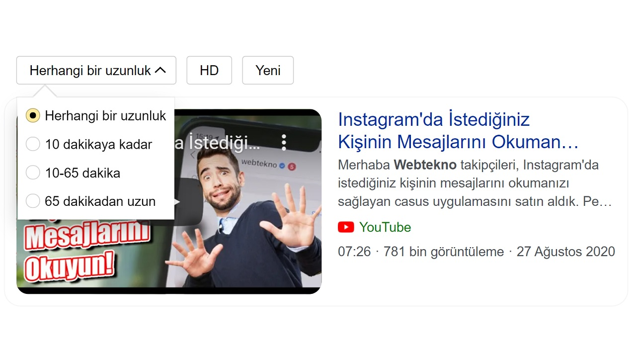 Yandex video arama