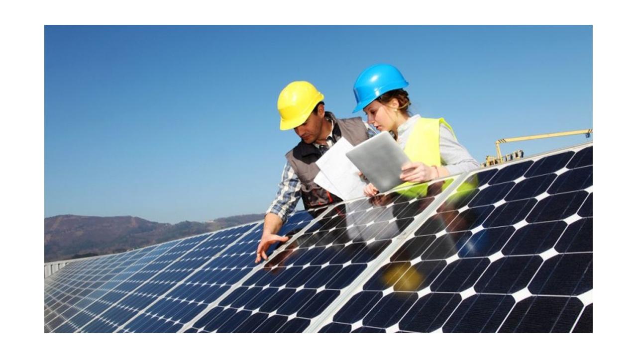 Güneş enerji sistemi teknik personeli