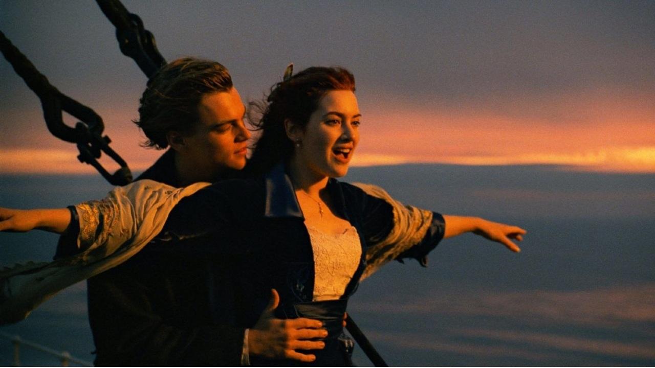 Titanik filminden bir sahne