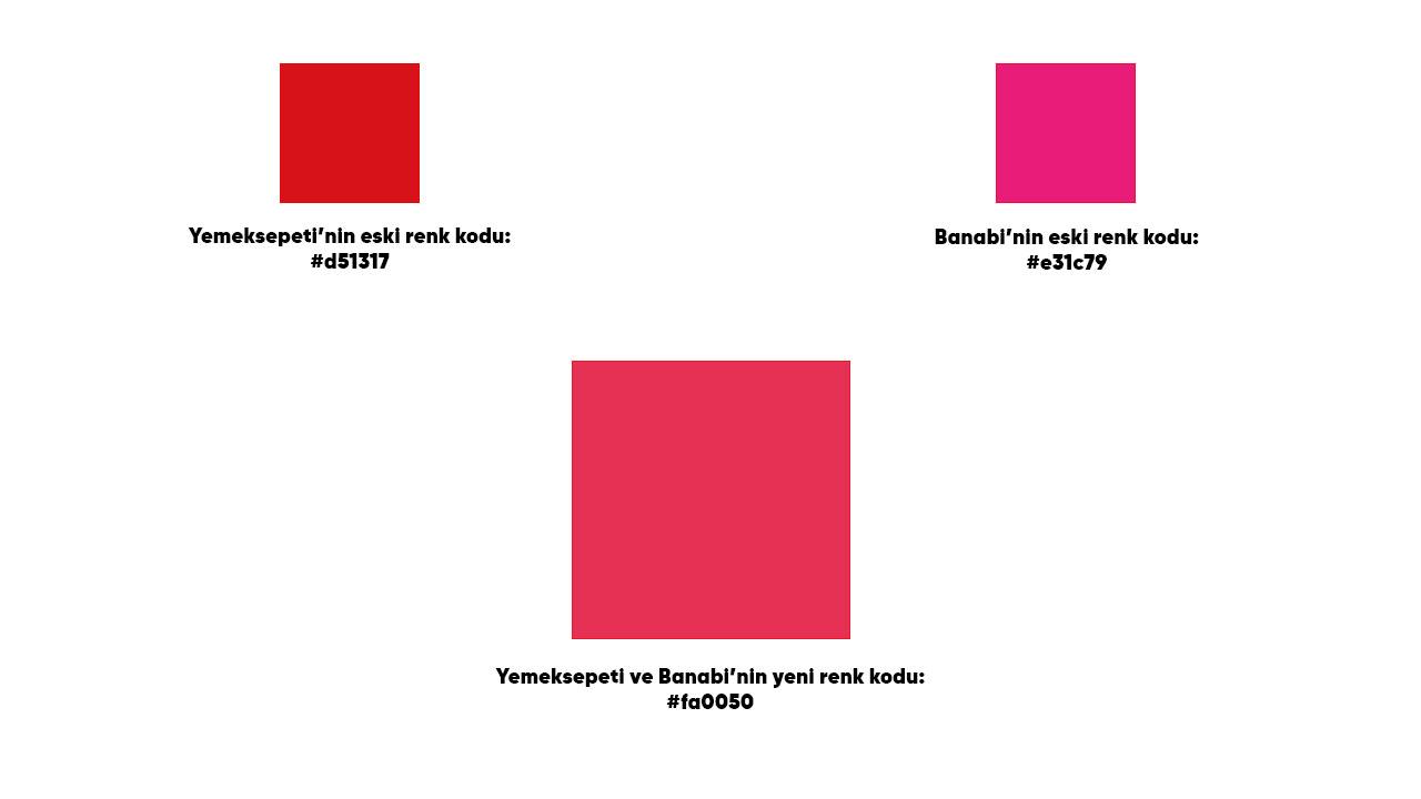 yemeksepeti renk kodları