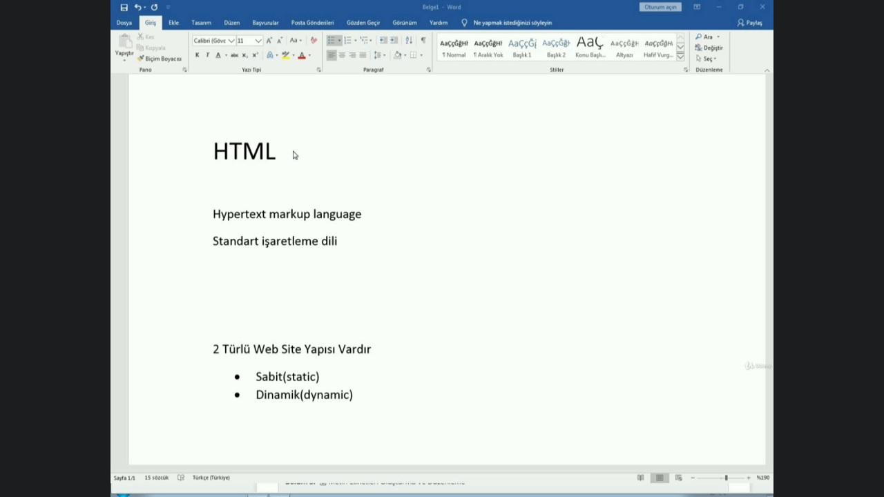 udemy, html kursu